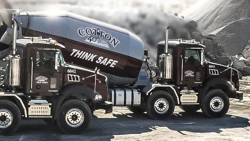 View of a ready mix truck